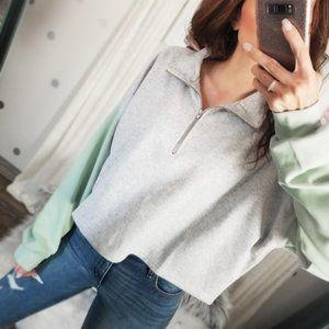 Color Block Pullover Sweatshirt